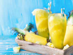 pineapple, smoothy, плод