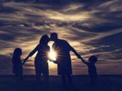 семья, sun, ребенок