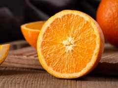 оранжевый, плод, цитрус