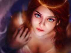 девушка, angel, глаз
