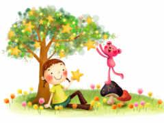 звёздочки на дереве