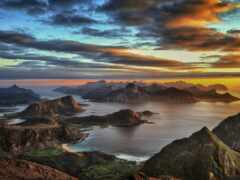 гора, море, ан