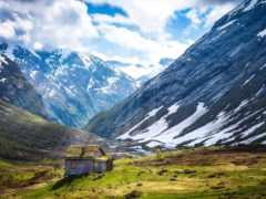 горы, кавказа, горах