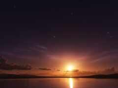 sun, небо, закат