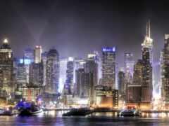 urban, skyline, город