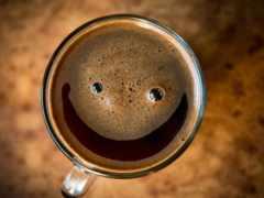coffee, улыбается, товара