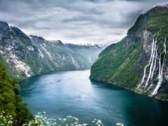 фьорды, норвежские, норвегии