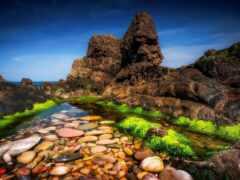 rock, water