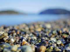 камни, морском, берегу