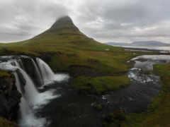 водопад, река, природа