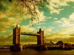 мост, london, башня