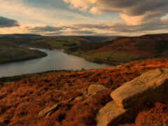 hill, rock, река