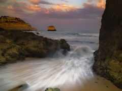 море, water, закат