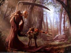 смерть, косой, лесу