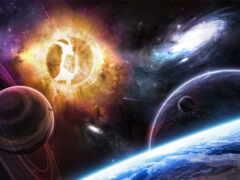 universo, pantalla, celestial