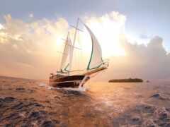 яхта, oir, облако