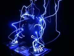 DJ is working