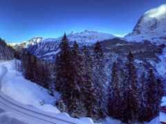 winter, shine, гора