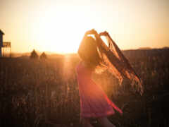закат, ubackground, девушка