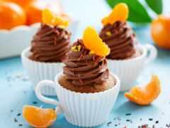 капкейки, кексы, мандариновые Фон № 166901 разрешение 1680x1050