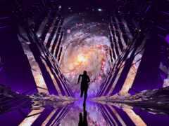 nebula, силуэт, космос