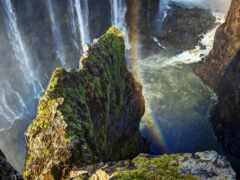 водопад, high скалы