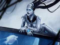 девушка, robot, android