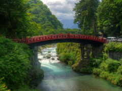 мост, япония, природа