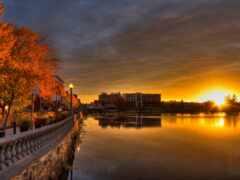 sherbrooke, soleil, lever