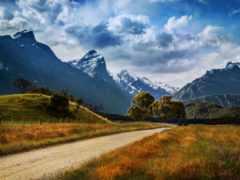 дорога, горы Фон № 32628 разрешение 3600x2412
