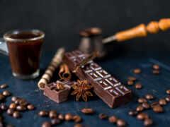 chocolate, coffee, зерно