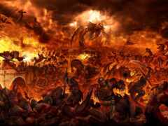 битва, люди, дракон