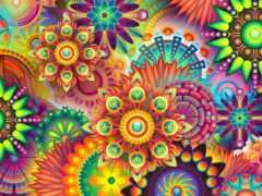 puzzle, психоделика, cvety