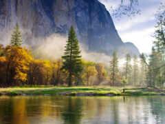 туман, природа, озера