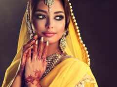 indian, макияж, девушка