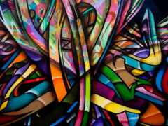 graffito, color, art