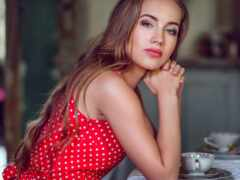 devushka, девушка, чаепитие