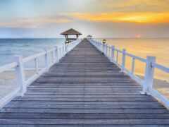 пляж, мост, wood