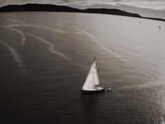 sail, яхта, black