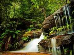водопады, водопад, фотопанно