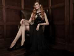 девушка, платье, sitting