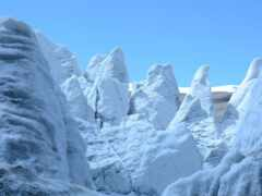 glacier, гора, снег