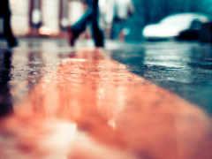 город, улица, дождь