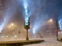 светофор, winter, blizzard
