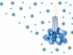 клипарт, свеча, новый год