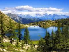 озеро, горах, красивое