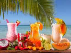 коктейль, palm, валин
