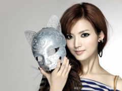 маска, девушка, красивая