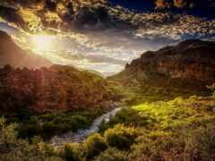 каньон, овраг, valle