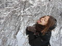 devushki, зимой, zima
